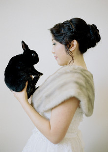 Bride with bunny