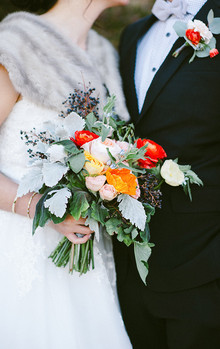 Napa Valley Wedding Colorful Bouquet