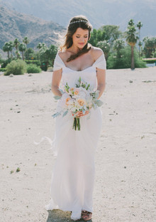 Whimsical Palm Springs Wedding Dress