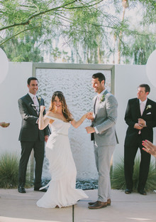 Whimsical Palm Springs Wedding Ceremony
