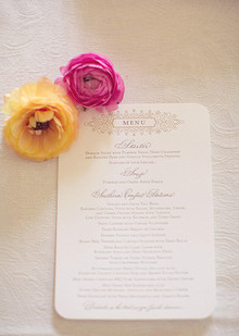 Vibrant Spring Wedding Menu