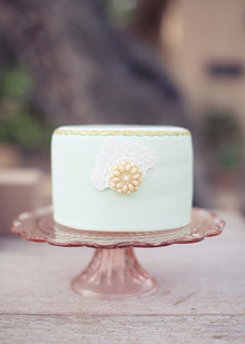 Vibrant Spring Wedding Mint Cake