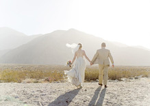 Romantic Palm Springs Wedding Portrait