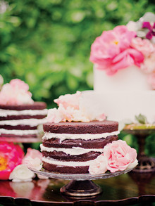 garden inspired chocolate cake