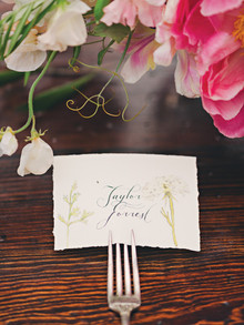Vintage garden wedding place setting