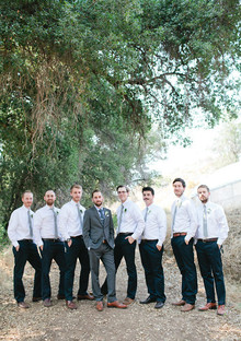 Vintage Woodland California Groomsmen