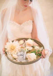 Soft Peach Wedding Florals