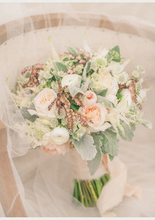 Soft Peach Wedding Bouquets
