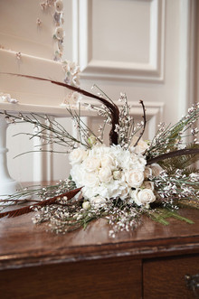 White flower decor