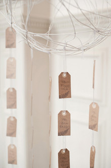 Brown escort cards