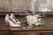 Shoes and flower decor