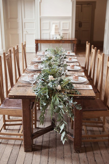 Organic and natural wedding tablescape