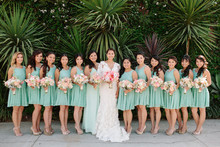 Whimsical Smog Shoppe Wedding Bridemaids