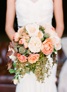 Peach colored bouquet