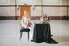 Art Deco black and gold table