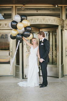 Black and gold balloons