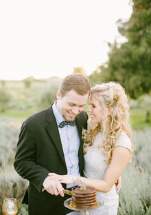 Lavender farm inspiration wedding portrait