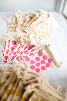 Polka dot favor bags