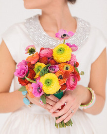 Modern, Colorful Wedding Florals
