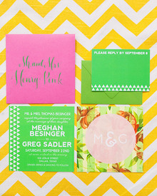 Modern, Colorful Wedding Invitation