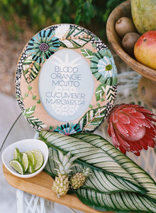 tropical wedding signage