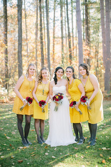 Rustic Fall Wedding Bridesmaids