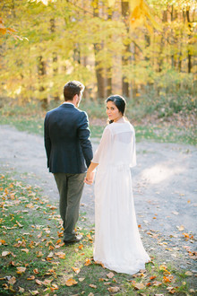 Rustic Fall Wedding Portrait