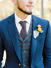 Rustic Fall Wedding Boutonniere