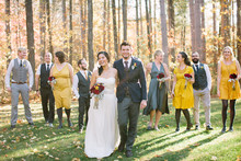 Rustic Fall Wedding Party