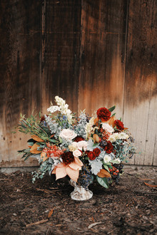Rustic Christmas inspired florals