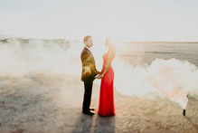 Salt flat engagement shoot