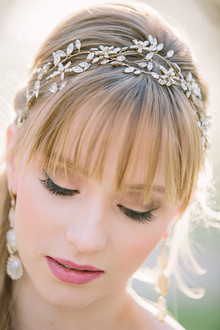 Gold laurel wreath headpiece