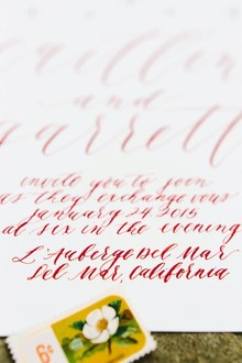 Red calligraphy