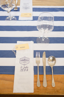Colorful South African Wedding Place Setting