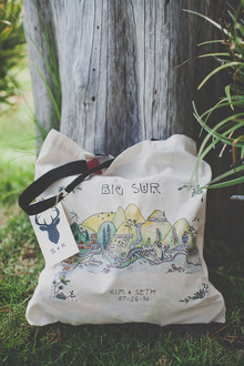 Big Sur themed guest tote