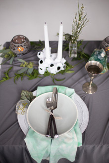 Bohemian Seaside Wedding Place Setting