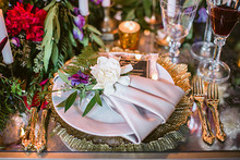 Romantic Luxe wedding tablescape