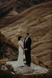 New Zealand mountaintop elopement