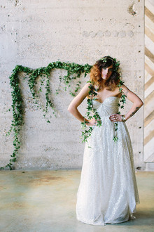 Sparkly Sarah Seven wedding dress