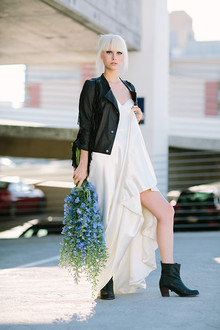 Modern black and blue bridal inspiration