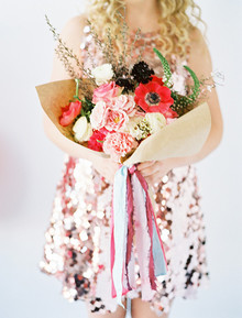 Red and pink bouquet with