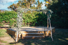 DIY Ojai Rancho Inn Wedding Altar
