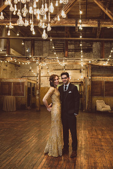 Urban New York City loft wedding portrait