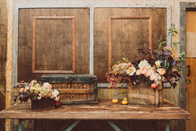 Urban New York City loft wedding decor