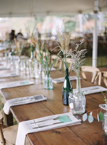 Green wedding tablescape