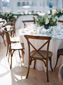 Brown and white chairs