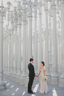 LACMA wedding portrait