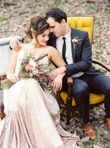 Modern Bohemian Wedding Portrait