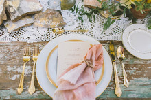 Summer Wedding Place Setting
