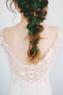Loose braid with greenery